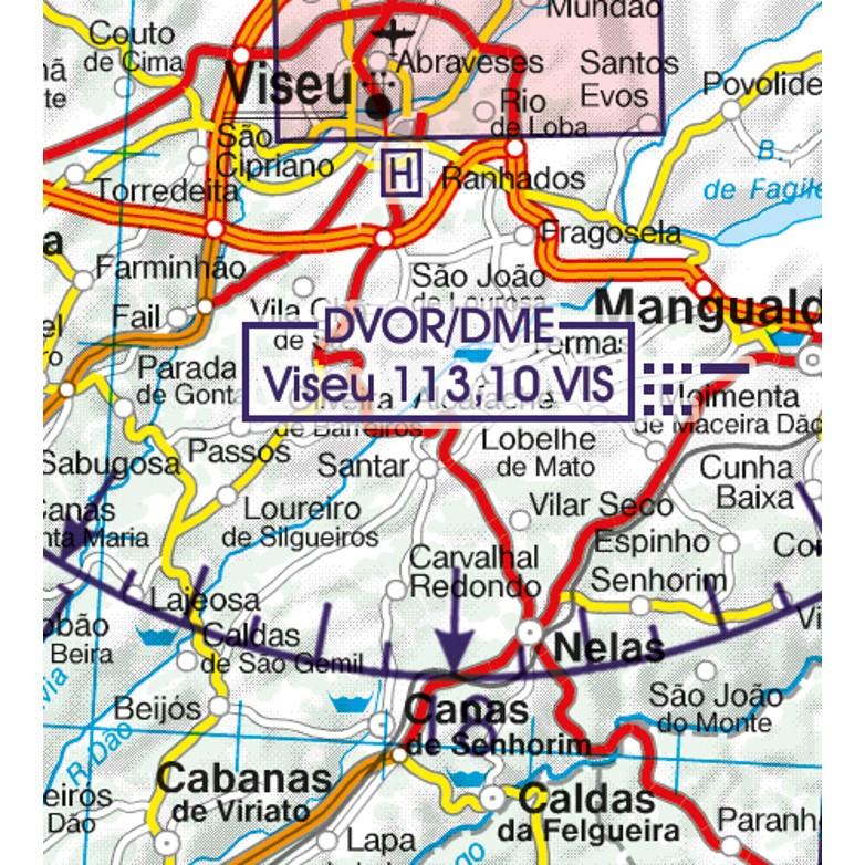 Portugal VFR Aeronautical Chart navigation