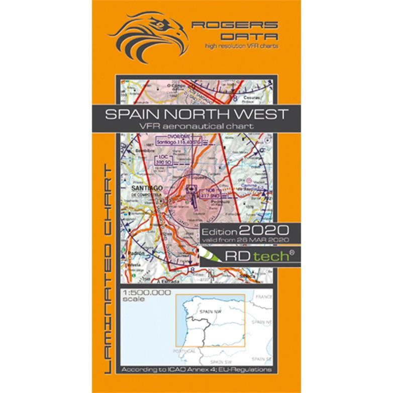 Spain North West 500k Aeronautical VFR Chart 2020 Rogers Data
