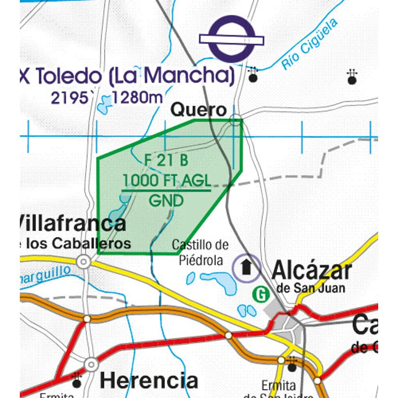 Spain VFR Aeronautical Chart  areas with sensitive fauna nature reserve