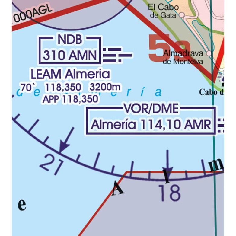 Spain VFR Aeronautical Chart  navigation