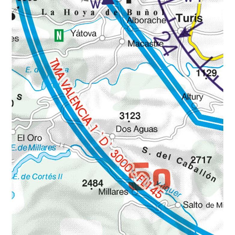 Spain VFR Aeronautical Chart TMA terminal control area