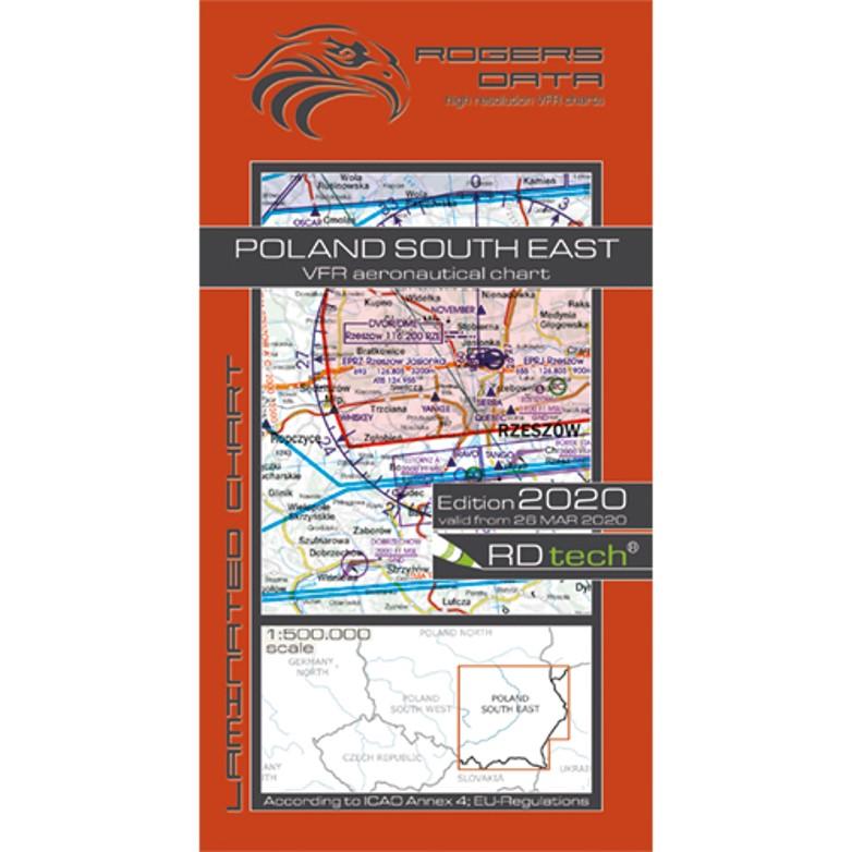 Poland South East 500k Aeronautical VFR Chart 2020 Rogers Data