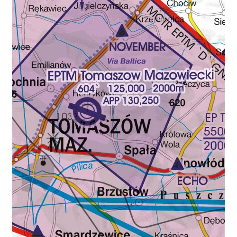 Polen VFR Luftfahrtkarte Militär Flugplatz