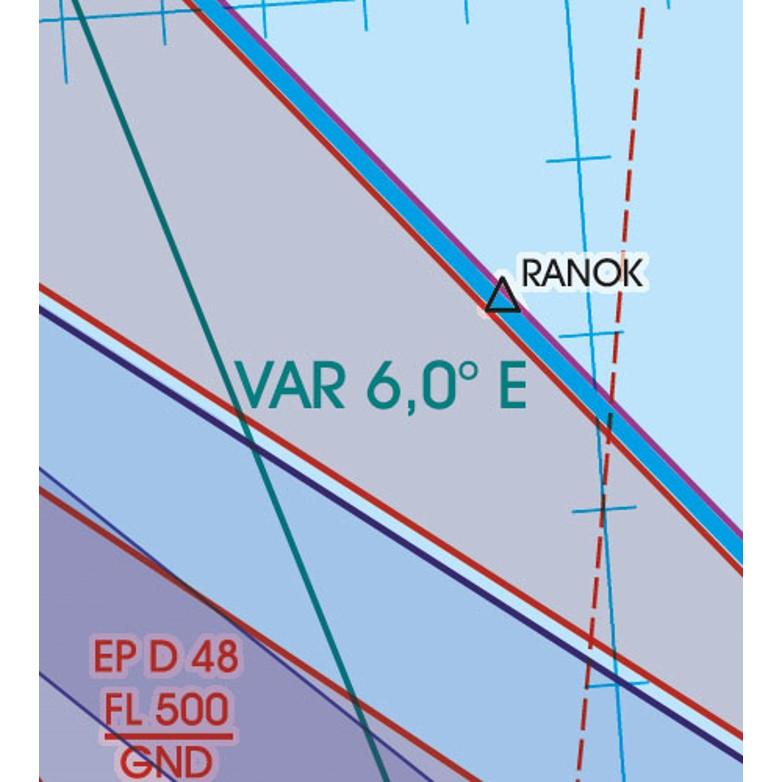 Polen VFR Luftfahrtkarte VAR Variation