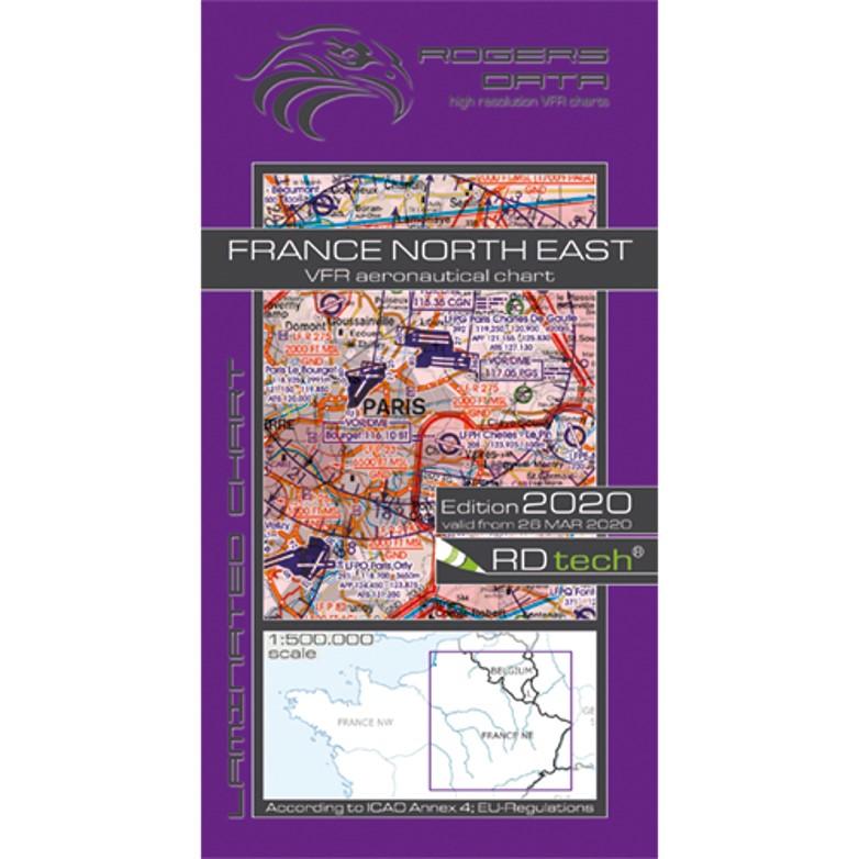 France North East 500k Aeronautical Chart 2020 RGB