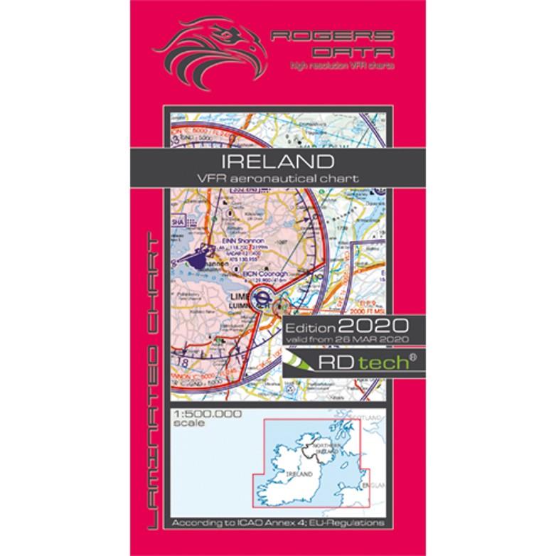 Ireland 500k Aeronautical VFR Chart 2020 Rogers Data