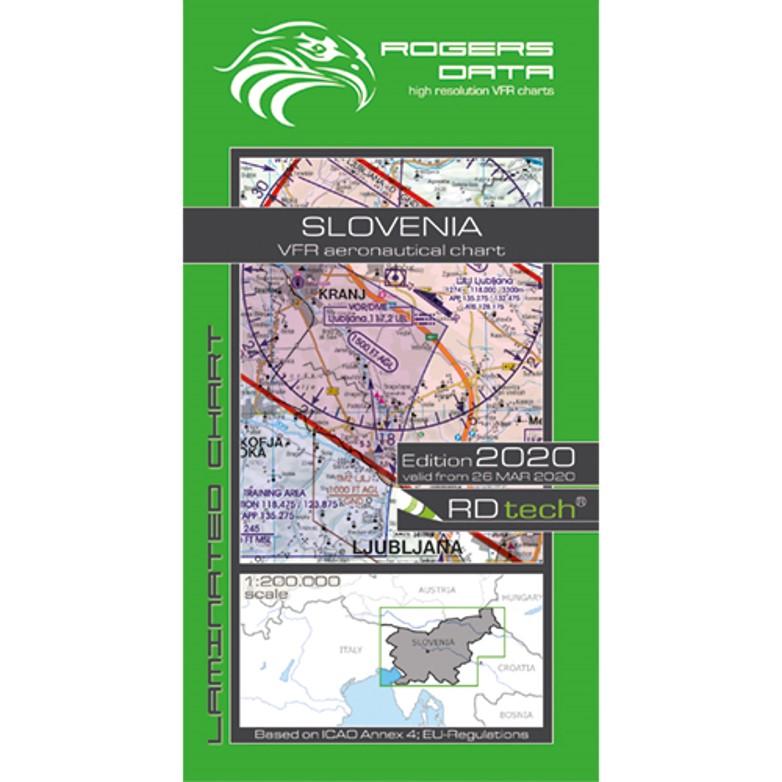 Slovenia Aeronautical VFR Chart 200k 2020 RGB