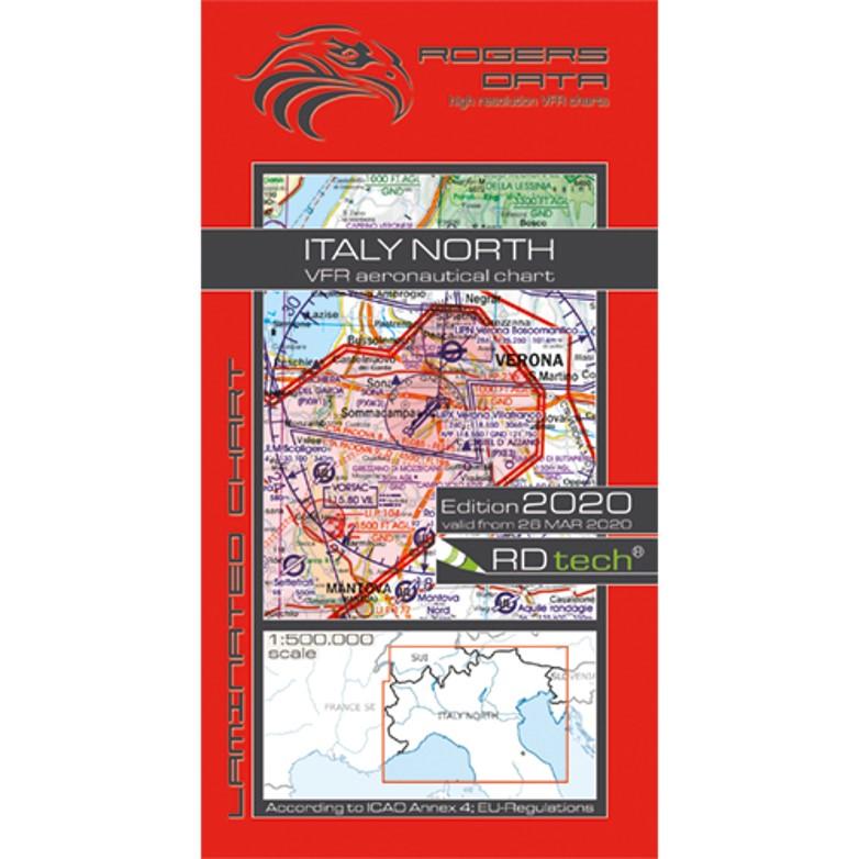 Italy North 500k Aeronautical VFR Chart 2020 Rogers Data