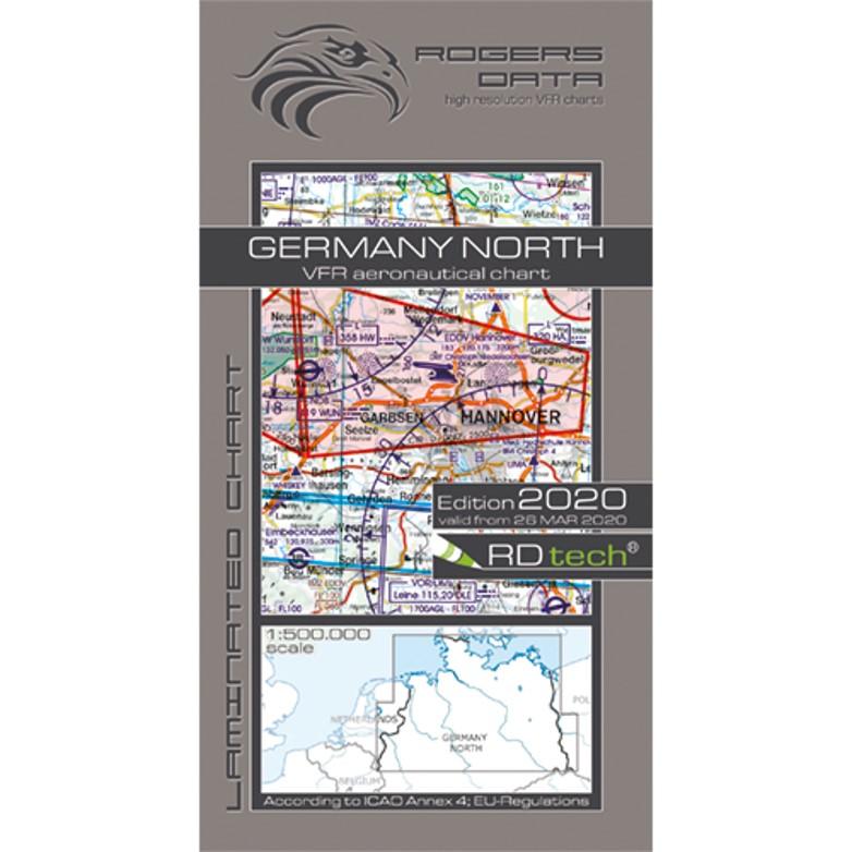 Germany North 500k Aeronautical VFR Chart 2020 Rogers Data