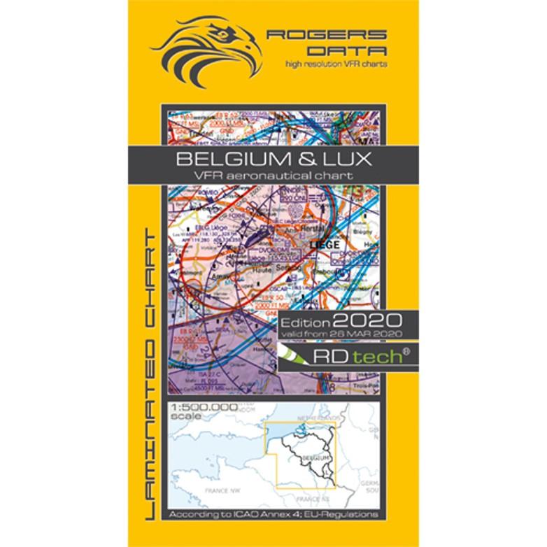Belgium Luxembourg 500k Aeronautical VFR Chart 2020 RGB