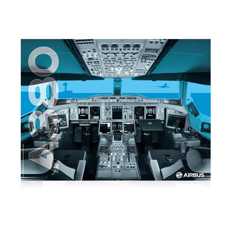 ABY039 A380-cockpit-poster