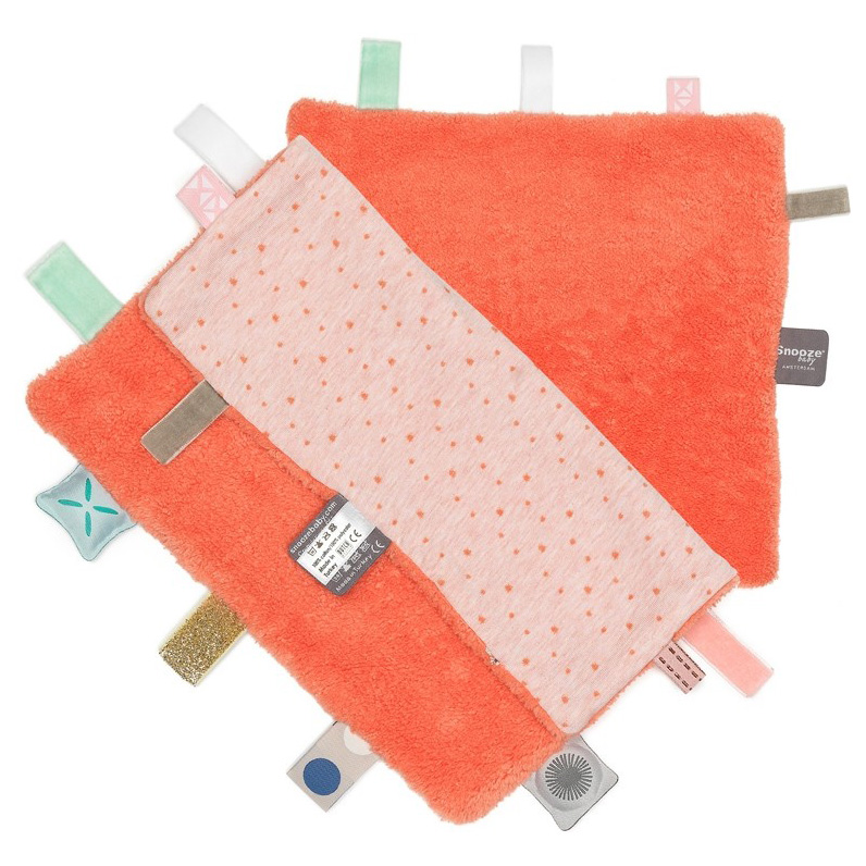 Labeldoekje Snoozebaby - Sunset Coral