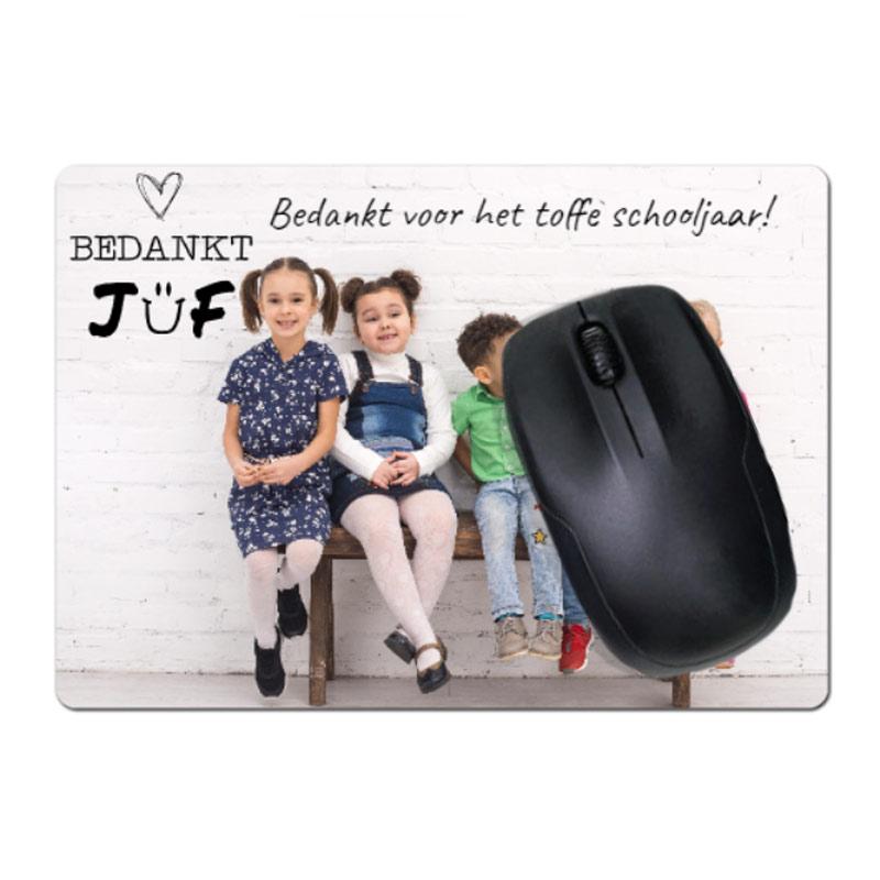 Tapis de souris maîtresse/maître avec photo et texte