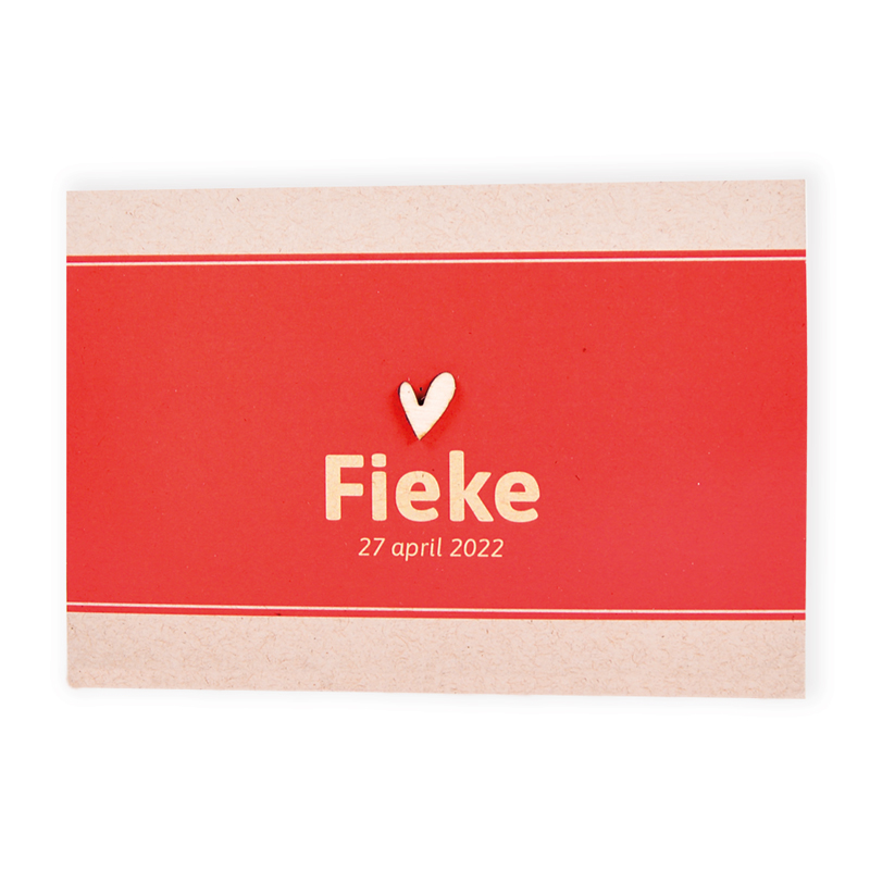 Faire-part de naissance Fieke